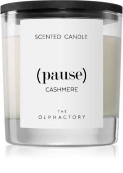 Ambientair Olphactory Black Design Cashmere mirisna svijeća (Pause)