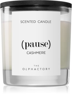 Ambientair Olphactory Black Design Cashmere scented candle (Pause)