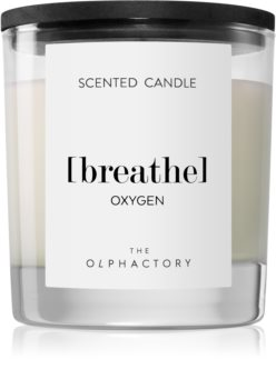 Ambientair Olphactory Black Design Oxygen scented candle (Breathe)