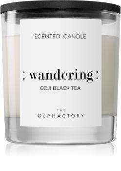 Ambientair Olphactory Black Design Goji Black Tea αρωματικό κερί (Wandering)