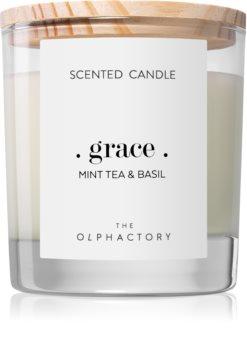 Ambientair Olphactory Mint Tea & Basil illatos gyertya  (Grace)