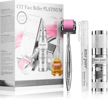 âme pure CIT Face Roller Platinum Set (On Enlarged Pores And Wrinkles)