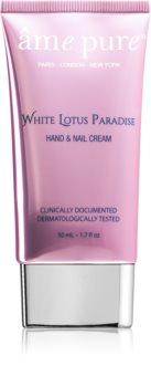 âme pure White Lotus Paradise creme amaciador para mãos e unhas