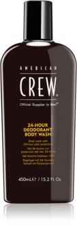 American Crew Hair & Body 24-Hour Deodorant Body Wash Gel de banho com efeito desodorizante 24 h