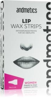 andmetics Wax Strips depilacijska traka s voskom za gornju usnu