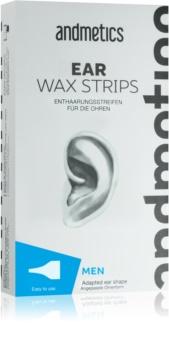 andmetics Wax Strips strisce depilatorie alla cera per le orecchie