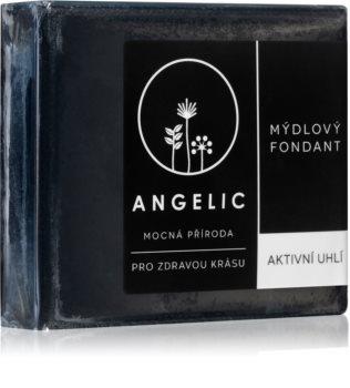 Angelic Active Charcoal detoxikačné mydlo s aktívnym uhlím
