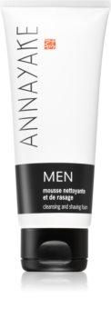 Annayake Men's Line espuma para afeitar y limpiar la piel