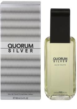 Antonio Puig Quorum Silver woda toaletowa dla mężczyzn