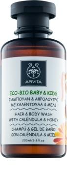 Apivita Eco-Bio Baby & Kids gel si sampon pentru bebelusi pentru utilizarea de zi cu zi