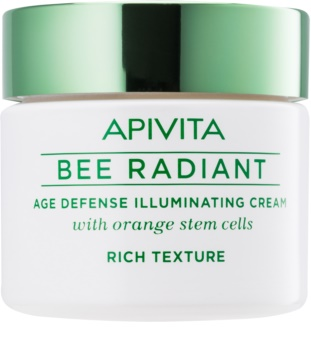 Apivita Bee Radiant rozjasňující krém proti příznakům stárnutí
