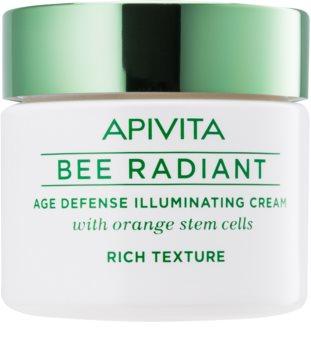 Apivita Bee Radiant озаряващ крем против признаци на стареене