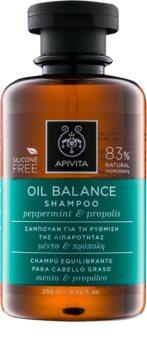 Apivita Holistic Hair Care Pepermint & Propolis șampon pentru păr gras