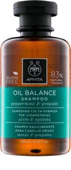 Apivita Holistic Hair Care Pepermint & Propolis Shampoo for Oily Hair
