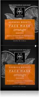 Apivita Express Beauty Orange masque visage revitalisant et illuminateur
