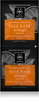 Apivita Express Beauty Orange ревитализираща и озаряваща маска за лице