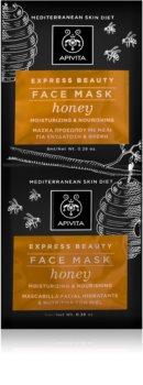 Apivita Express Beauty Honey Intensivt fuktgivande ansiktsmask