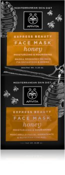 Apivita Express Beauty Honey intenzivna vlažilna maska za obraz