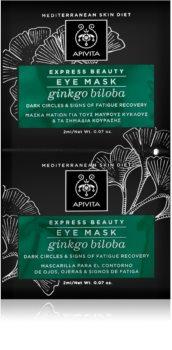 Apivita Express Beauty Ginkgo Biloba maschera occhi contro gonfiori e occhiaie