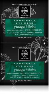 Apivita Express Beauty Ginkgo Biloba maska za predel okoli oči proti oteklinam in temnim kolobarjem