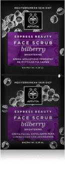 Apivita Express Beauty Bilberry Mild hudpeeling För omedelbar uppljusning