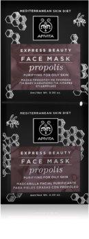 Apivita Express Beauty Propolis globoko čistilna maska za mastno kožo