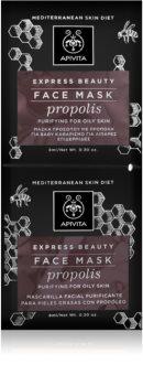 Apivita Express Beauty Propolis hloubkově čisticí maska pro mastnou pleť