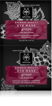 Apivita Express Beauty Grape maschera occhi lisciante