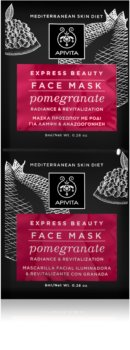 Apivita Express Beauty Pomegranate Revitalizing Face Mask For Immediate Brightening