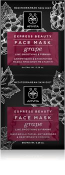 Apivita Express Beauty Grape maschera viso rigenerante e lisciante