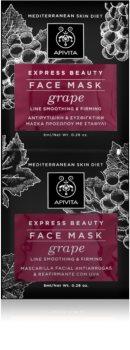 Apivita Express Beauty Grape nährende und glättende Maske für das Gesicht