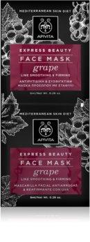 Apivita Express Beauty Grape стягаща и изглаждаща маска за лице