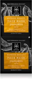 Apivita Express Beauty Pumpkin pleťová maska s detoxikačným účinkom