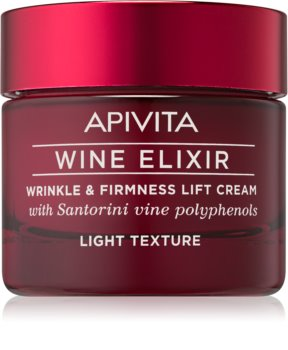 Apivita Wine Elixir Santorini Vine lekki krem przeciwzmarszczkowy o efekt wzmacniający