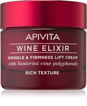 Apivita Wine Elixir Santorini Vine bogaty krem przeciwzmarszczkowy o efekt wzmacniający