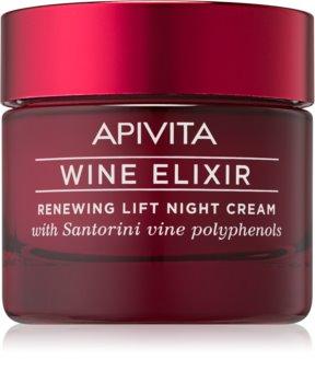 Apivita Wine Elixir Santorini Vine erneuernde Nachtcreme mit Lifting-Effekt