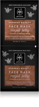 Apivita Express Beauty Royal Jelly ревитализираща маска за лице със стягащ ефект