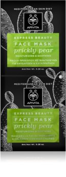 Apivita Express Beauty Prickly Pear intenzivno vlažilna maska za obraz