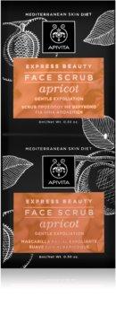 Apivita Express Beauty Apricot нежен пилинг на кожата