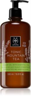 Apivita Tonic Mountain Tea jemný sprchový gel s esenciálnymi olejmi