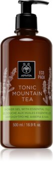 Apivita Tonic Mountain Tea Silky Shower Gel With Essential Oils