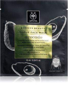 Apivita Express Beauty Avocado maschera in tessuto idratante e lenitiva
