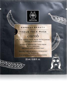 Apivita Express Beauty Carob detoxifying face sheet mask