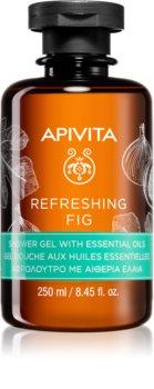 Apivita Refreshing Fig gel de duche refrescante com óleos essenciais