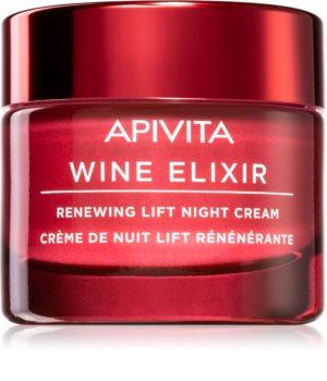 Apivita Wine Elixir Santorini Vine odnawiający krem liftingujący na noc