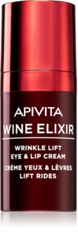 Apivita Wine Elixir Santorini Vine crema antiarrugas contorno de ojos y labios con efecto lifting