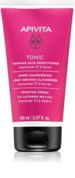 Apivita Holistic Hair Care Hippophae TC & Laurel acondicionador tonificante redensificante para cabello fino