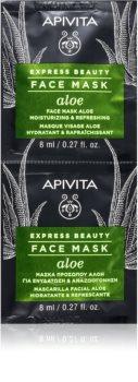 Apivita Express Beauty Aloe Hydrating Face Mask With Aloe Vera