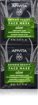 Apivita Express Beauty Aloe vlažilna maska za obraz z aloe vero