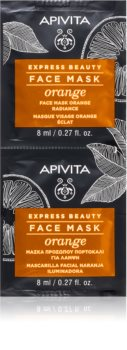 Apivita Express Beauty Orange rozjasňujúca pleťová maska